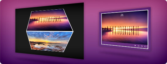 Vertical 3D flash slideshow template
