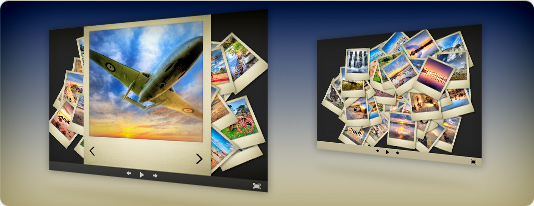 Polaroid slideshow template