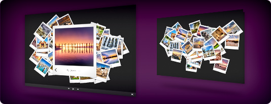 Vectorial polaroid slideshow template