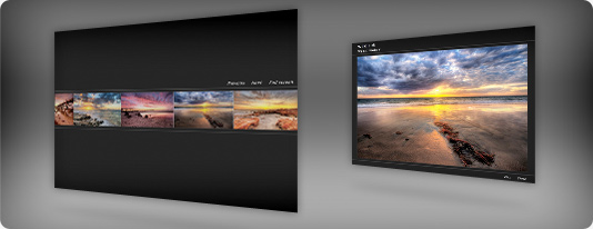 Thumbnail sliding slideshow template