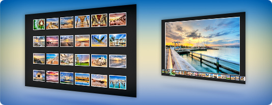 Flash wall gallery slideshow template